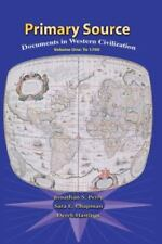 Primary Sources in Western Civilization, Volume 1 (2nd Edition)