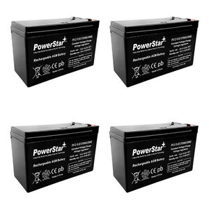 12V 7AH SLA Replaces np7-12 bp7-12 ps-1270 cy0112 - 4 Pack UPGRADED 9AH