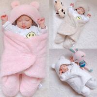 Newborn Infant Baby Cotton Solid Sleep Blanket Boys Girls Warm Wrap Swaddle XI