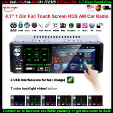 4''1 Din Car Radio Full Touch Screen 2USB Bluetooth AM FM Stereo MP5 Player RDS