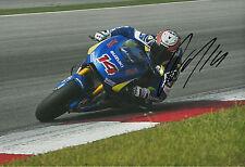 Randy de Puniet Firmada A Mano Suzuki MotoGP 2014 12x8 Foto 4.