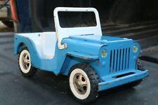Tonka Blue Jeep Truck - pressed steel - Toronto Canada