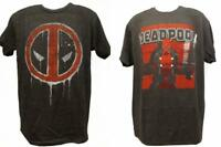 New Deadpool Marvel Adult Mens Sizes S-M-L-XL-2XL Gray Licensed Soft Shirt $22