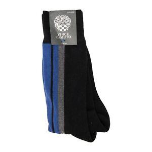 Vince Camuto Men Crew Socks Black/Blue One Size 3351