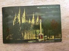 Mormon Temple Salt Lake City Utah LDS Church Vintage Postcard Posted 1954 Ogden