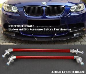 "2 x Red 9.5"" Bumper Lip Diffuser Splitter Spoiler Support Rod Bar for BMW"