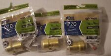 Blue Hawk Brass Valve Adapter 3/4 in x 3/4 inch Push to Connect Lot of 3 0515986