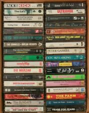 Lot of 34 1980s New Wave & Synth Pop Cassette Tapes