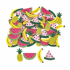Glitter Self-Adhesive Summer Fruit Shapes - Craft Supplies - 72 Pieces