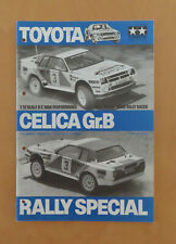 RC Tamiya Manual Toyota Celica Gr.B Rally Special 5864 , 58064 USED 1987