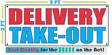 DELIVERY TAKE-OUT Banner Sign NEW Larger Size Best Quality for the $$$