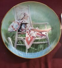 """Hamilton """"The Rocking Chair"""" 3rd Issue in """"A Country Summer"""" Plate Collection."""