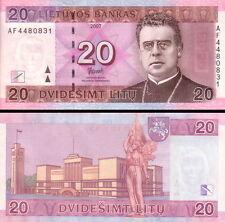 LITUANIA - Lithuania 20 litas 2007 UNC FDS