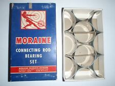 6 NOS GM MORAINE Connecting Rod Bearings .002 size 1939-1954 Pontiac 6 , 222 239