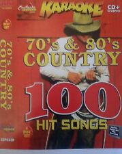 CHARTBUSTER KARAOKE CDG   70s & 80s COUNTRY  6 DISC SET 100 COUNTRY SONGS