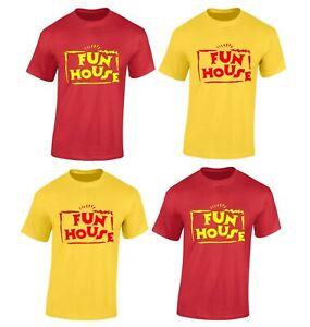 Fun House T Shirt TV Show Games Tops New Youtube 80's 90's Fancy Dress Costume