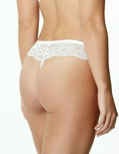 NEW LADIES BUTTERFLY LACE THONG KNICKERS WHITE MARKS & SPENCER SIZE 14 16 18