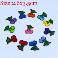 12 sets of Cherry Design Embroidered Cloth Iron On Patches Sewing Motif Applique