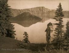 Edward Curtis Photo - Crater Lake, 1923, Klamath Chief