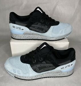 Asics Gel Lyte III 3 Black Carolina Light Blue Speckled H7M3L Mens Shoes Size 11