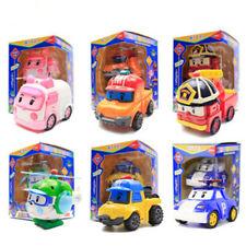 6 Styles Robocar Poli Amber Roy Helly Robot Transformer Robot Car Kids Gift Toys