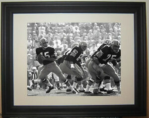 Bart Starr Green Bay Packers Football Framed Photo Picture Photograph