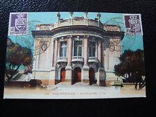 ALGERIE-carte postale(journee du timbre 13/10/1945)philippeville theatre (cy11)