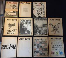 revue ART-RITE , lot de 11 numéros, EO ,circa 1970, parfait état