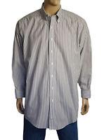 Brooks Brothers Men's Shirt Non-Iron Premium Cotton Striped Long Sleeve Size 3XL