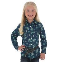 Wrangler Girl Navy Paisley Snap Up Western Shirt GW1875M