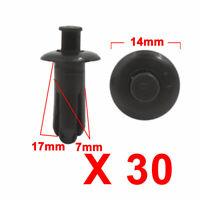 sourcingmap 8mm x 6mm Hole Plastic Car Splash Guard Fir Tree Clips Rivets 100pcs