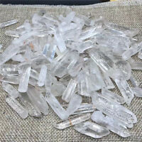 100g Lot Tibet Natural Clear Quartz Crystal Points Terminated Wand Specimen