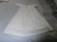 Vintage   Victorian Hand Stitched Infants white Cotton Gown owner Melikoff