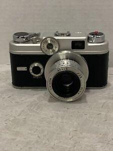 Vintage Argus C44 35mm Film Camera F2.8 50mm Lens with leather case