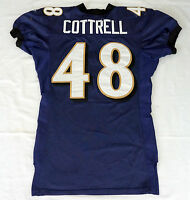 #48 Jim Cottrell of Ravens NFL Locker Room Game Issued Worn Jersey - BR1761