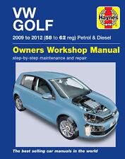 VW Golf 2009 to 2012 (58-62 Reg) Petrol & Diesel Haynes Owners Workshop Manual