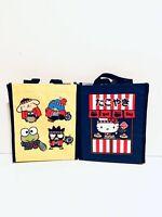 (2) World Market Hello Kitty Reusable Small Bag Shopping Tote Gift Bag  NWOT