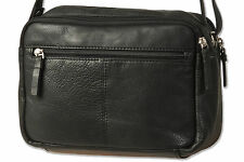 Platino Ladies Handbag from Soft Nappa Leather/Calf Leather in Black