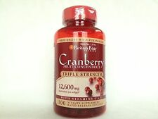 Puritan's Pride Triple Strength Cranberry Fruit Concentrate 12,600mg Made In USA