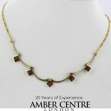 Italian Made Natural Baltic Amber Necklace in 9ct Gold- GN0007 RRP£400!!!