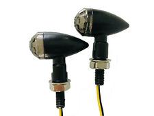 Schwarze Bullet Mini Blinker Motorrad 12V LED 2 Stück (1 Paar) / E-Prüfzeichen