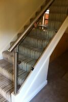 Glass and Stainless Steel , staircase Re-Style balustrade Oak Too