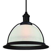 Westinghouse Hanging Light Retro Oil Rubbed Bronze and Frosted Glass with 1 Lamp
