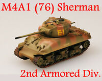 Easy Model 1/72 U.S Army M4A1(76)W Sherman Tank 2nd Armored Div.#36248