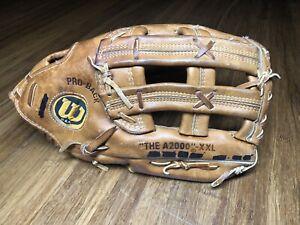 "Wilson ""The A2000"" XXL Pro Model Adult RHT Baseball Softball Glove - Made in USA"