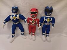 "Power Rangers vintage 1994 13"" Rangers Plush Vinyl Toy stuffed Mighty Morphin"