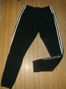 NWT adidas Men's Active Sweatpants / Joggers~BLACK~MED