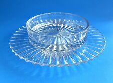 VINTAGE PRESSED GLASS BUTTER SERVING DISH