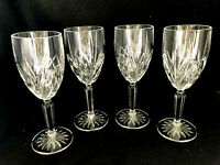 "Waterford Crystal Marquis Brookside 4 Wine Glasses, 7 3/4"""