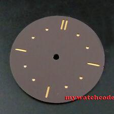 38.9mm coffee sandwich dial orange pure sterile fit ETA 6497 mens watch D47